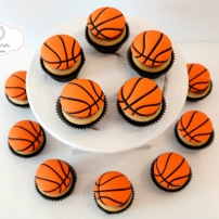 Custom Basketball Cupcake Basketball Toppers