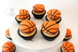 Classic Vanilla with Chocolate Frosting Custom Cupcake Toppers