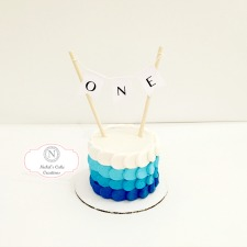 Blue Boy Smash Cake