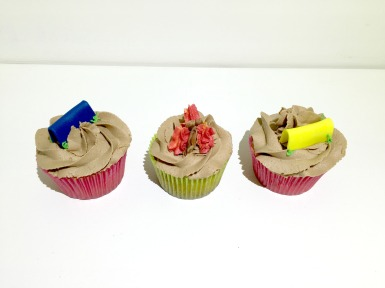 Camping Cupcakes - Moist White Cupcake with Nutella Buttercream