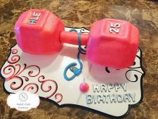 Custom Dumbbell Cake