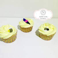 Eeyore & Bumblebees Cupcakes - Moist White Cupcake with a Lemon Cream Cheese Frosting