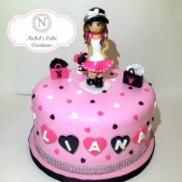 Fashionista Custom Cake