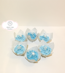 Frozen Snow Flake Cupcakes