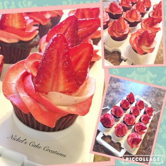 Chocolate Nutella Cupcakes with Strawberry Cream Cheese Frosting