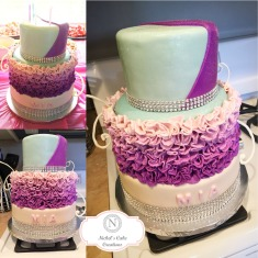 Three Tiered Custom Cake
