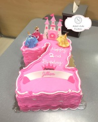 Custom #2 Birthday cake with princess'