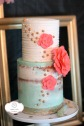 Custom gum Paste flowers on beautiful two tiered naked cake
