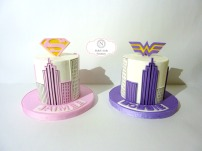 Super Girl & Wonder Woman Twin Cakes