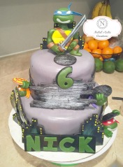 Custom TMNT Cake