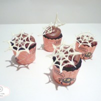 Dark & Creamy Double Fudge Chocolate Cupcakes with White Milk Chocolate Spider Webs