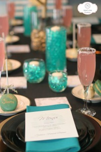 Macarons as name placements. Photo credit to Majestic Moments Photography