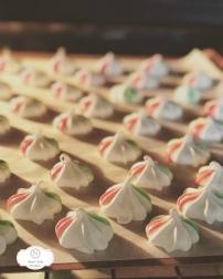 Festive Vanilla Meringue Cookies