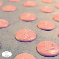 Peppermint Macarons in the Making