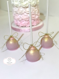 Pink Cake Pops with Gold Luster