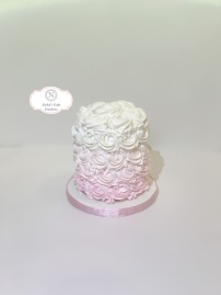 Pink Ombre Smash Cake