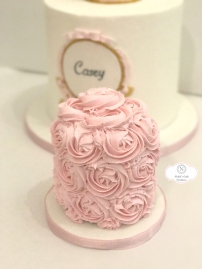 Strawberry Rosette Smash Cake