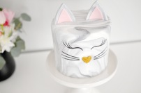 Marble Kitty Cake