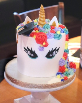 Graduation Unicorn Cake