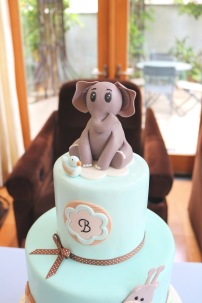 Baby Shower Cake closeup